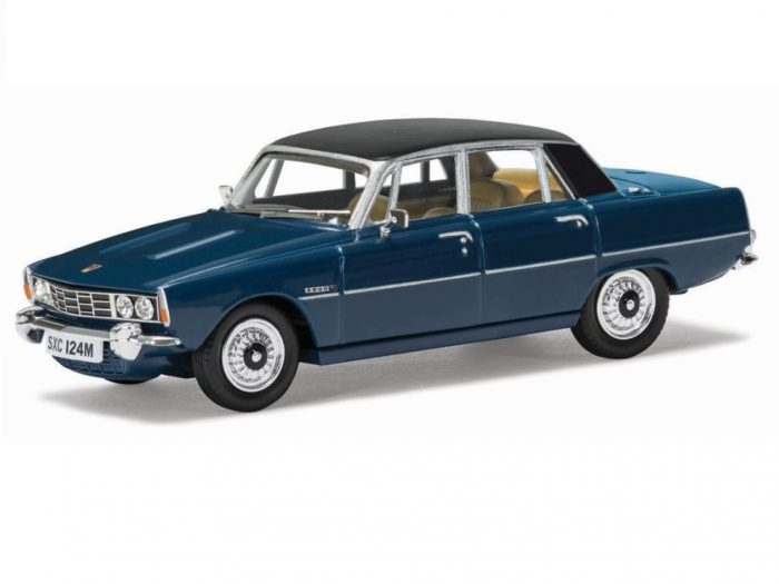 ROVER P6 3500 V8 in Scarab Blue - 1/43 scale model by Corgi Vanguards