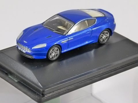 ASTON MARTIN DB9 COUPE in Cobalt Blue 1/76 scale model OXFORD DIECAST