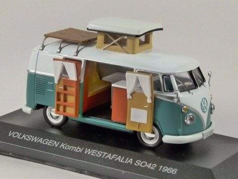 1966 VOLKSWAGEN T1 COMBI WESTFALIA Camper 1/43 scale model by IXO