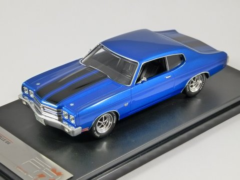 1970 CHEVROLET CHEVELLE SS in Blue 1/43 scale model by Premium X
