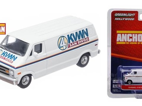 DODGE VAN Channel 4 News Team - Anchorman - 1/64 scale model GREENLIGHT