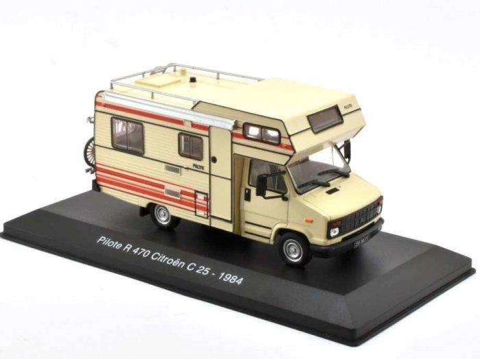 1984 CITROEN C25 Pilote R470 Campervan 1/43 scale partwork model by Altaya