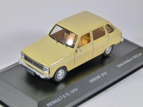1974 RENAULT 6 TL in Beige 1/43 scale model by Odeon