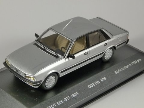 1984 PEUGEOT 505 GTi in Silver 1/43 scale model by Odeon
