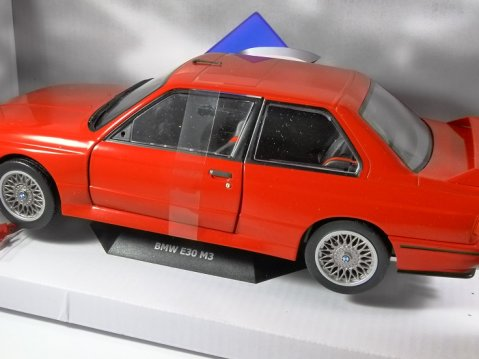 1990 BMW E30 M3 in Red 1/18 scale model by SOLIDO
