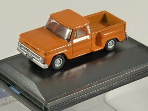 1965 CHEVROLET STEPSIDE PICKUP in Orange 1/87 scale model OXFORD DIECAST
