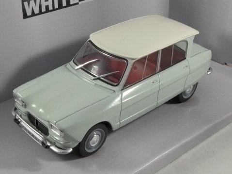 1961 CITROEN AMI 6 in Light Green / White 1/24 scale model by Whitebox