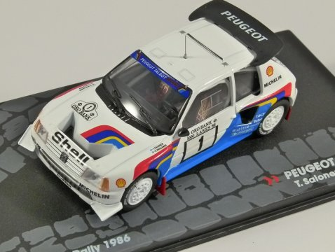PEUGEOT 205 T16 E2 - 1000 Lakes Rally 1986 - 1/43 scale partwork model