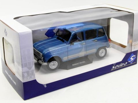 1986 RENAULT 4 GTL CLAN in Blue 1/18 scale model by SOLIDO