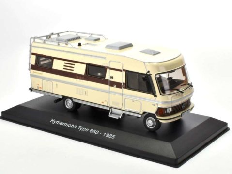1985 HYMERMOBILE TYPE 650 Campervan 1/43 scale partwork model