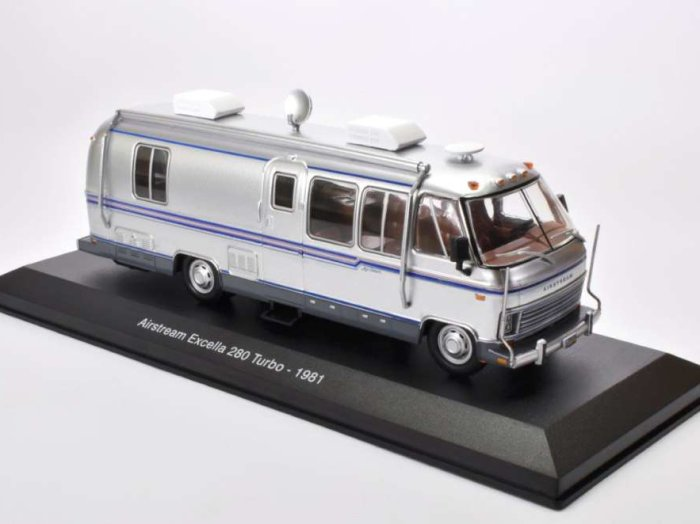 1981 AIRSTREAM EXCELLA 280 TURBO Camper 1/43 scale partwork model