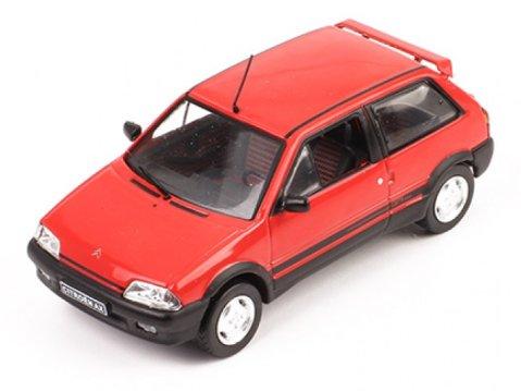 1991 CITROEN AX GTi in Red 1/43 scale model by IXO