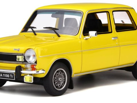 SIMCA 1100 Ti in Yellow 1/18 scale model OTTO / OttoMobile