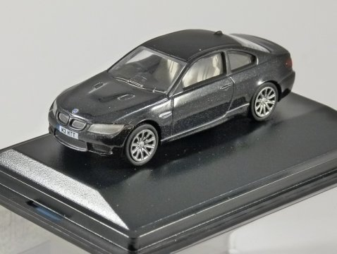 BMW M3 COUPE E92 in Black 1/76 scale model OXFORD DIECAST