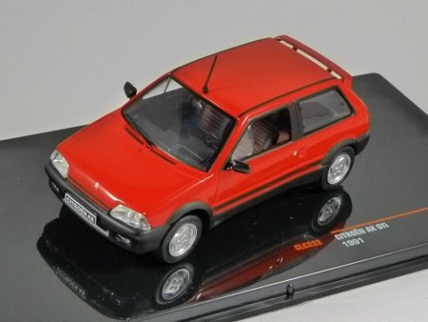 1991 CITROEN AX GTi in Red 1/43 scale model by IXO
