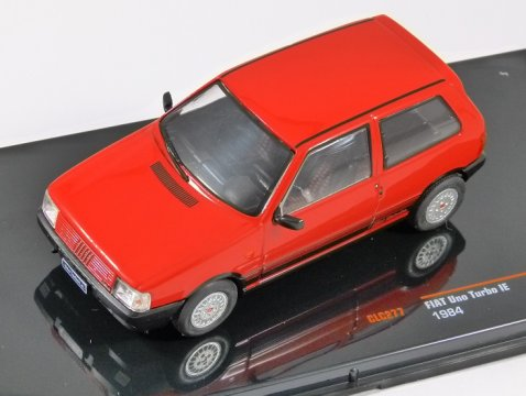 1984 FIAT UNO TURBO IE in Red 1/43 scale model by IXO
