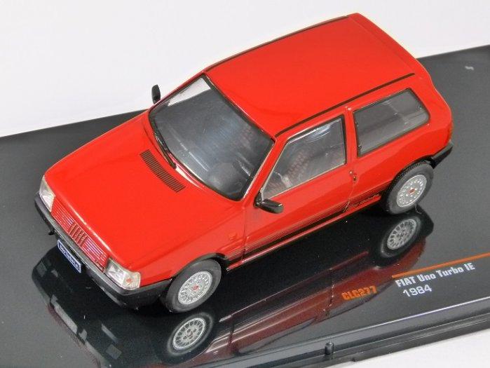 1984 FIAT UNO TURBO IE in Red 1/43 scale model by IXO