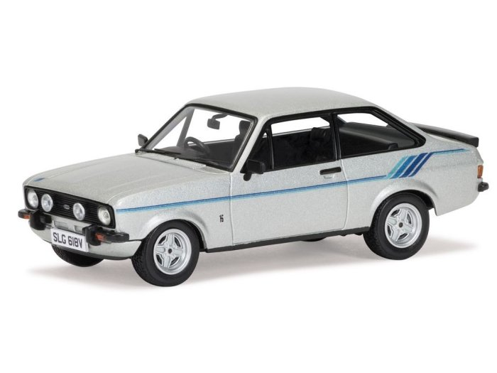 FORD ESCORT Mk2 HARRIER in Strato Silver 1/43 scale model by Corgi