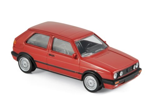 1990 VOLKSWAGEN GOLF Mk2 G60 in Red 1/43 scale model by Norev