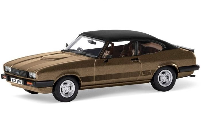 FORD CAPRI Mk3 3.0S in Tibetan Gold 1/43 scale model by Corgi