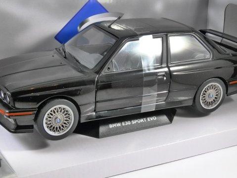 1990 BMW E30 M3 SPORT EVO in Black 1/18 scale model by SOLIDO