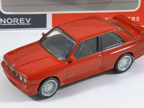 1986 BMW E30 M3 in Red 1/43 scale model by Norev