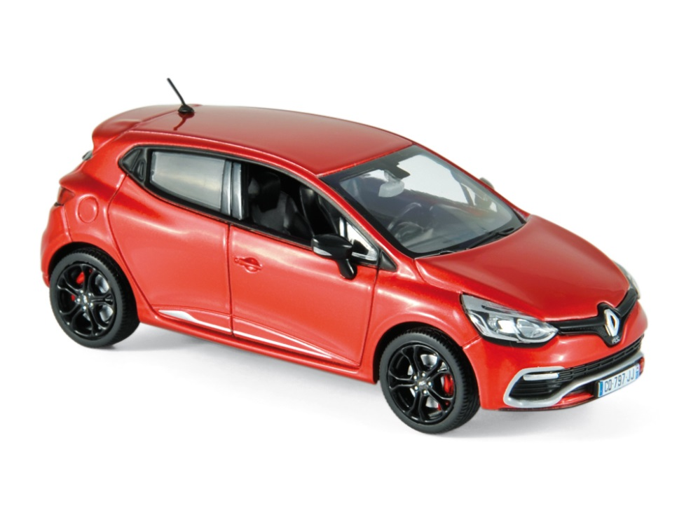 2013 renault clio rs in flame red 1 43 scale model by norev. Black Bedroom Furniture Sets. Home Design Ideas