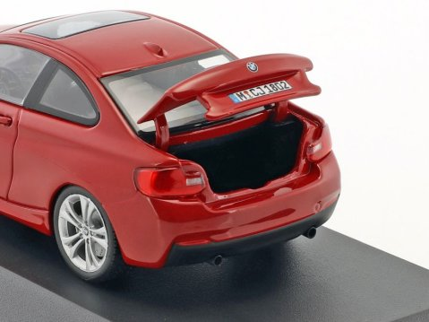 BMW 2 SERIES Coupe in Red 1/43 scale dealer model by Paragon
