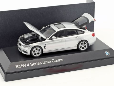 BMW 4 SERIES GRAN COUPE in Silver 1/43 scale dealer model by Paragon