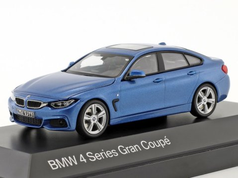 BMW 4 SERIES GRAN COUPE in Blue 1/43 scale dealer model by Paragon