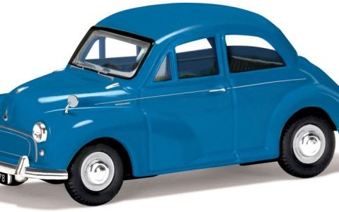 MORRIS MINOR 1000 in Turquoise 1/43 scale model CORGI Vanguards