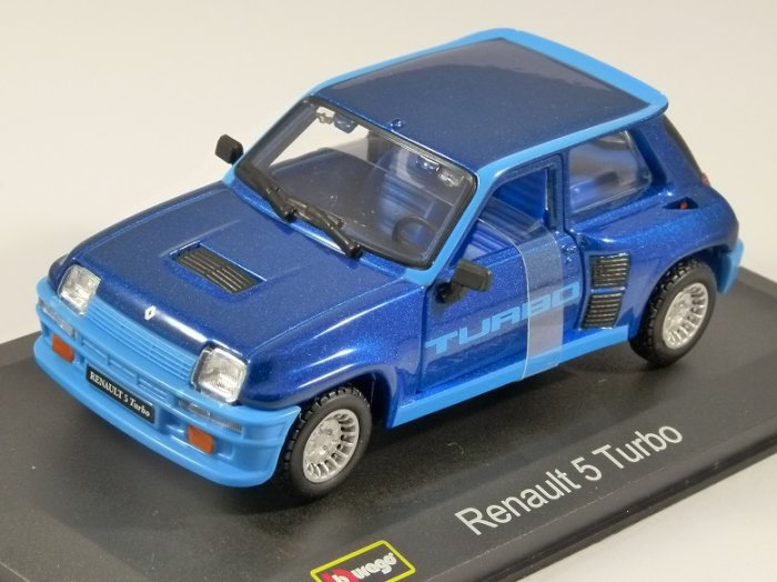 1982 RENAULT 5 TURBO in Blue 1/32 scale model by Burago
