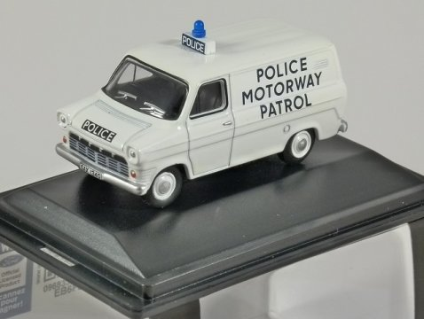 FORD TRANSIT Mk1 Police Motorway Patrol 1/76 scale model OXFORD DIECAST