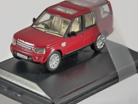 LAND ROVER DISCOVERY 4 in Firenze Red 1/76 scale model OXFORD DIECAST
