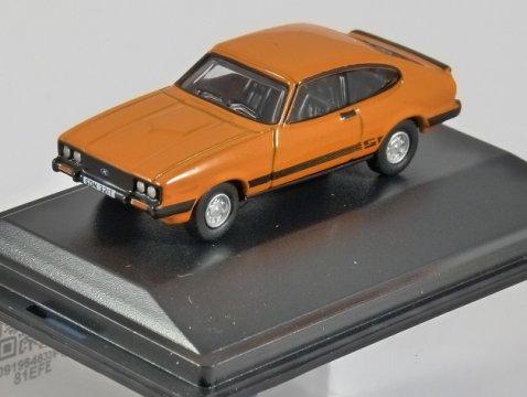 FORD CAPRI MkIII 3.0S in Signal Orange 1/76 scale model OXFORD DIECAST
