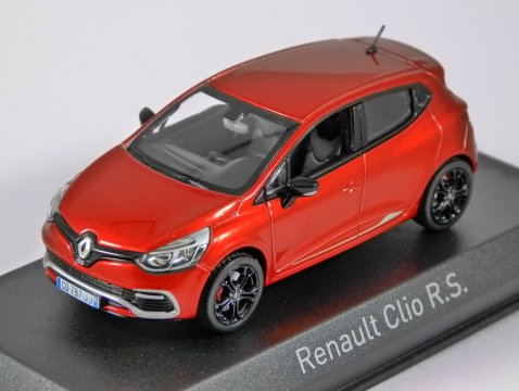 2013 RENAULT CLIO RS in Flame Red 1/43 scale model by Norev