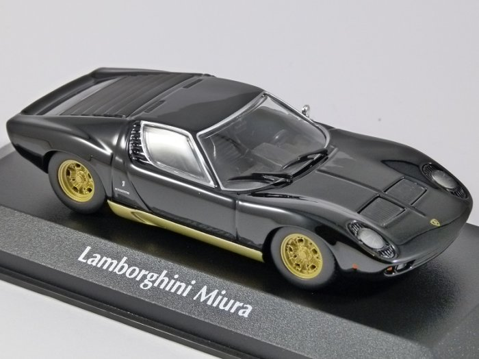 1966 LAMBORGHINI MIURA in Black 1/43 scale model by Minichamps / Maxichamps