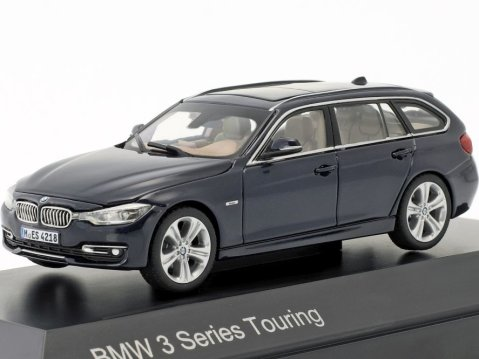BMW 3 SERIES Touring F31 in Dark Blue 1/43 scale dealer model