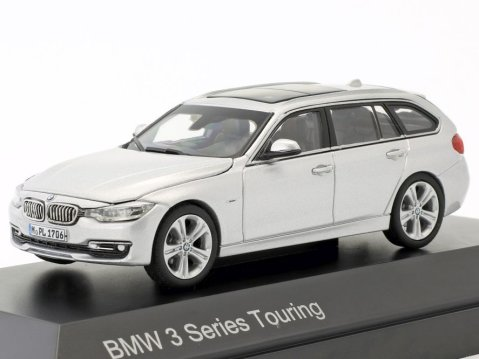 BMW 3 SERIES Touring F31 in Dark Blue 1/43 scale dealer model