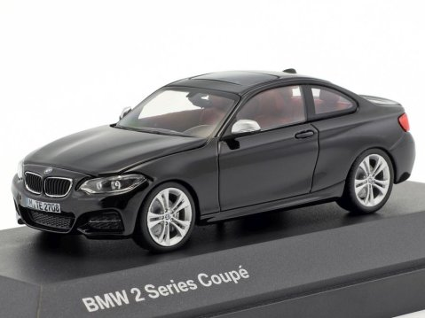 BMW 2 SERIES Coupe in Sapphire Black 1/43 scale dealer model