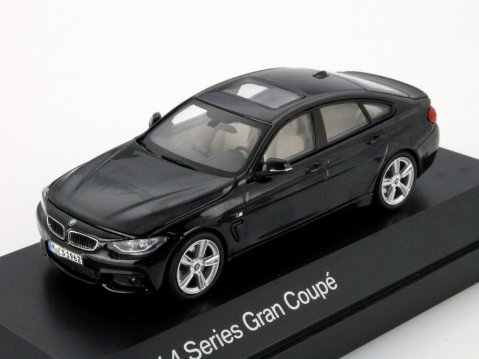 BMW 4 SERIES GRAN COUPE in Black 1/43 scale dealer model by Paragon