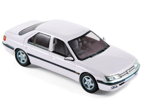 1998 PEUGEOT 605 in White 1/43 scale model by Norev