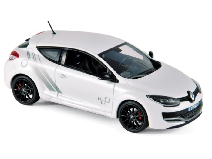 2014 RENAULT MEGANE RS TROPHY in White 1/43 scale model by Norev