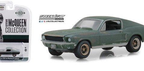 1968 FORD MUSTANG GT Unrestored - Steve McQueen - 1/64 scale model GREENLIGHT