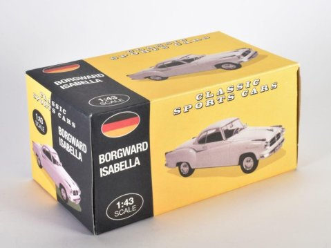 BORGWARD ISABELLA COUPE in White - 1/43 scale partwork model Atlas Editions