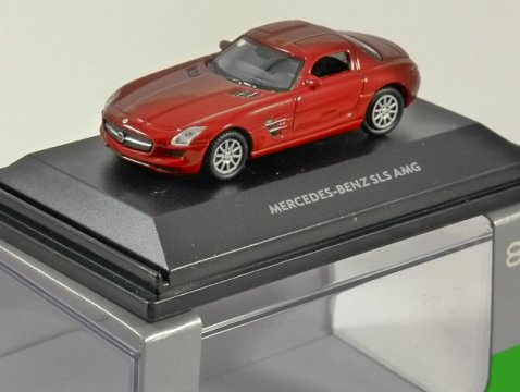 MERCEDES BENZ SLS AMG in Red 1/87 scale model WELLY