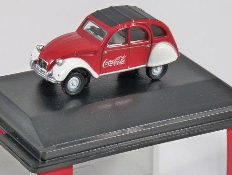 CITROEN 2CV - Coca Cola - 1/76 scale model OXFORD DIECAST