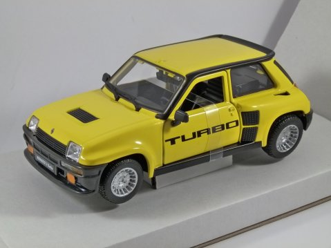 1982 RENAULT 5 TURBO in Yellow - 1/24 scale model by Burago