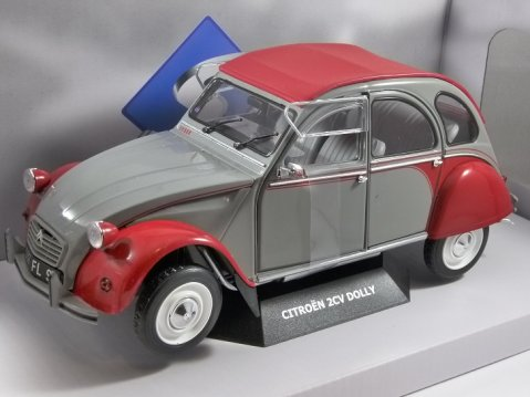 1985 CITROEN 2CV DOLLY in Grey / Red 1/18 scale model by SOLIDO