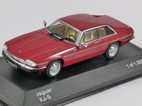 1982 JAGUAR XJ-S in Red 1/43 scale model by Whitebox